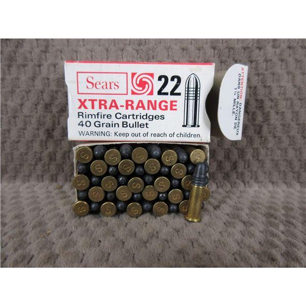 Collector Ammo - Sears Xtra-Range 22 Long Rifle - Box of 50