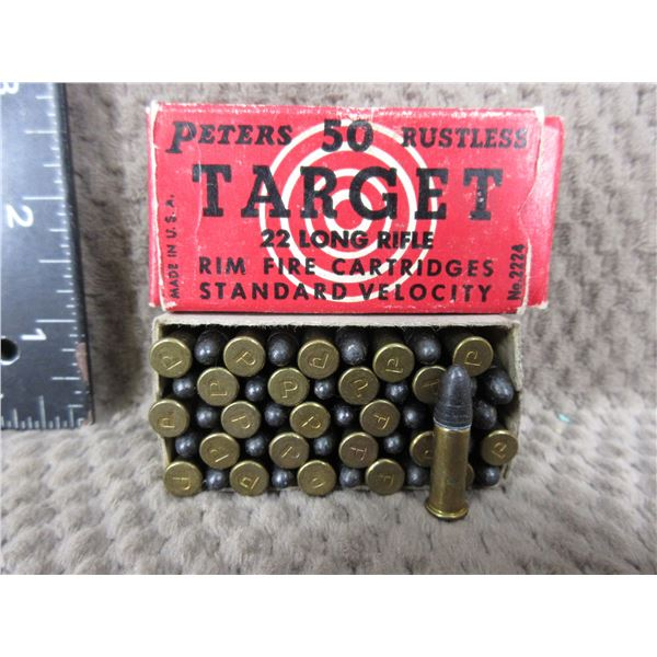 Collector Ammo - Peters Rustless Target 22 LR - Box of 50