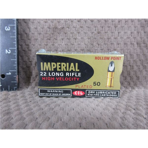 Collector Ammo - CIL Imperial 22 LR HP - Box of 50