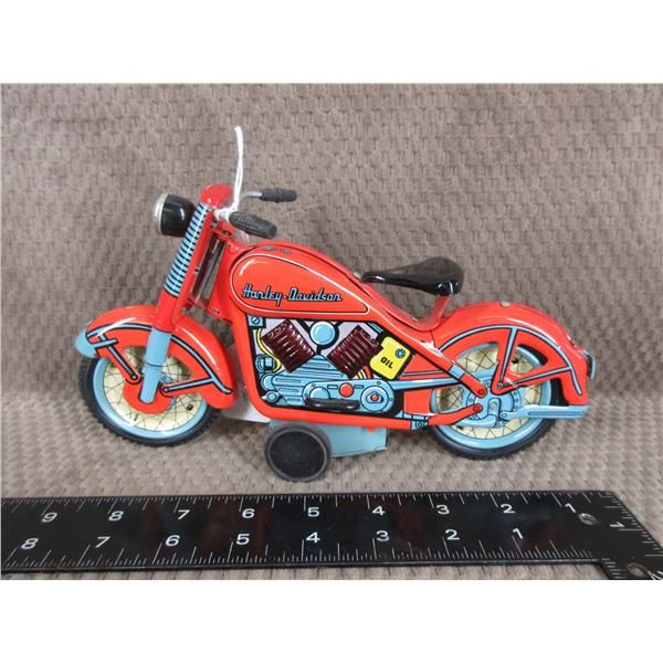 Harley Davidson Motorcycle Tin Toy