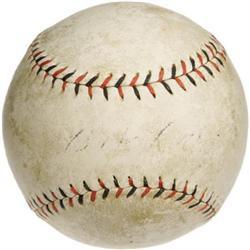 Circa 1918 Babe Ruth Single Signed Baseball