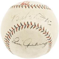 Ca. 1927 Babe Ruth & Lou Gehrig Signed Baseball