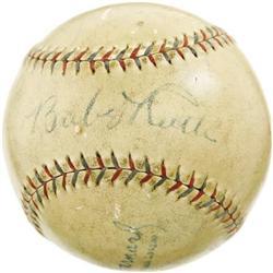 1927 Babe Ruth Single Signed Baseball