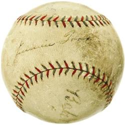 1920's Babe Ruth & Jimmie Foxx Signed Baseball