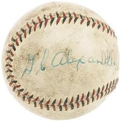 Ca. 1930 G.C. Alexander Single Signed Baseball