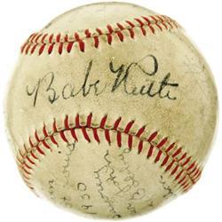 1930 Babe Ruth Signed Baseball