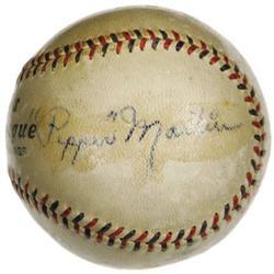 1930s St. Louis Cardinals Greats Signed Baseball