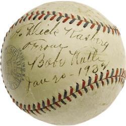 1932 Babe Ruth Single Signed Baseball