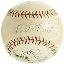 1934 Babe Ruth & Dean Brothers Signed Baseball