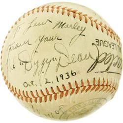 1936 Dizzy Dean & Pepper Martin Signed Baseball