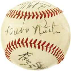 Circa 1938 Babe Ruth Signed Baseball