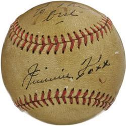 1940's Jimmie Foxx Single Signed Baseball