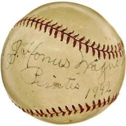 1942 Honus Wagner Single Signed Baseball