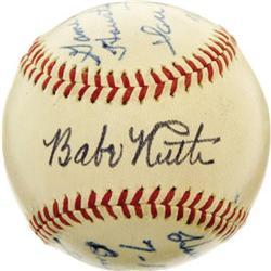 Babe Ruth Single Signed Baseball w/ PSA 10 Auto