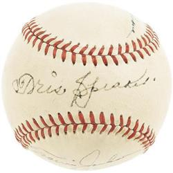 Hall of Famers Multi-Signed Baseball with Cobb
