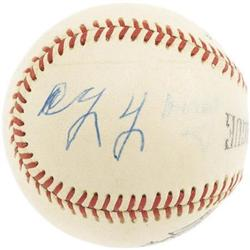 Circa 1950 Cy Young Single Signed Baseball