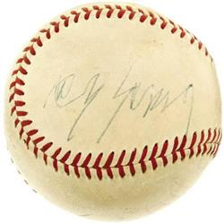 Early 1950's Cy Young Signed Baseball