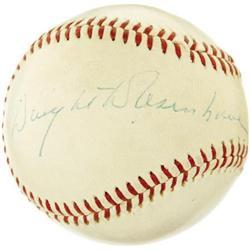 President Eisenhower Single Signed Baseball