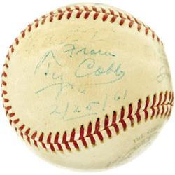 1961 Ty Cobb Signed Baseball