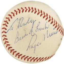 1961 Roger Maris Single Signed Baseball