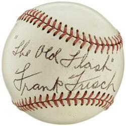 1960's Frank Frisch Single Signed Baseball
