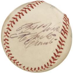 1960's Roberto Clemente Single Signed Baseball