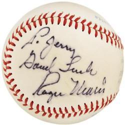 1970's Roger Maris Single Signed Baseball