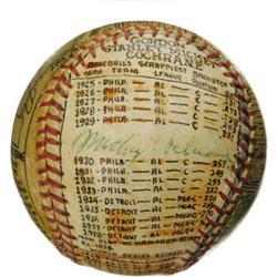 Sosnak Art Mickey Cochrane Signed Baseball