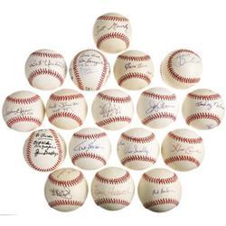 Ford C. Frick Award Winners Signed Baseball