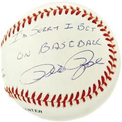 Pete Rose & Bart Giamatti Signed Baseball