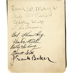 Book Signed by Rusie, Youngs, Babe Ruth