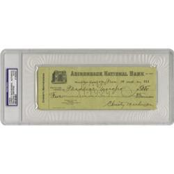 1924 Christy Mathewson Signed Check