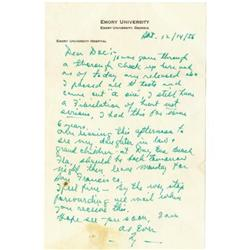 1956 Ty Cobb Handwritten Signed Letter, Envelope