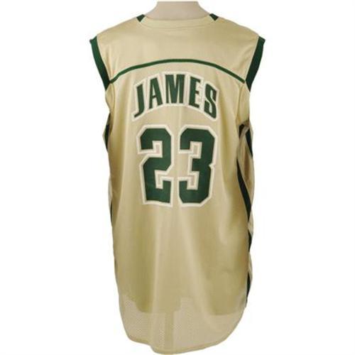 official photos e2c78 45ee3 2001-02 Lebron James Game Worn HS Jersey