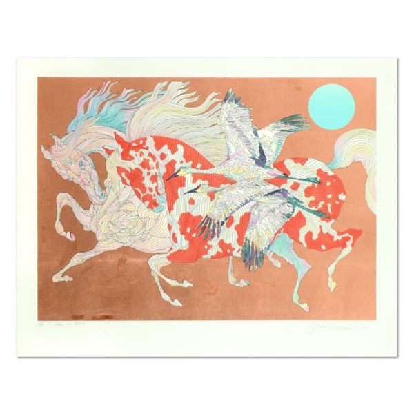 """Guillaume Azoulay, """"It Takes Two"""" Limited Edition Serigraph with Hand Laid Coppe"""