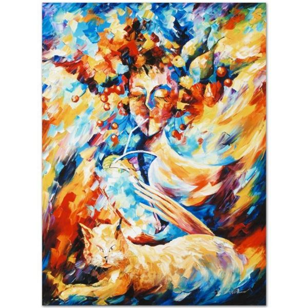 """Leonid Afremov (1955-2019) """"Night Cap"""" Limited Edition Giclee on Canvas, Numbere"""