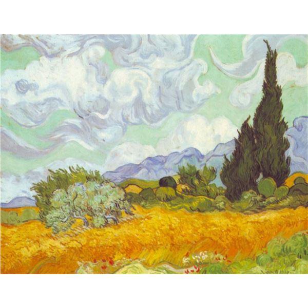 Van Gogh - Cornfield With Cyprusses