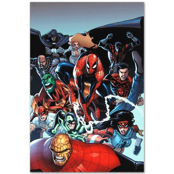 """Marvel Comics """"Amazing Spider-Man #667"""" Numbered Limited Edition Giclee on Canva"""