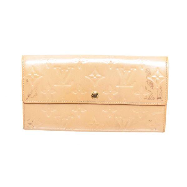 Louis Vuitton Beige Vernis Leather Sarah Wallet