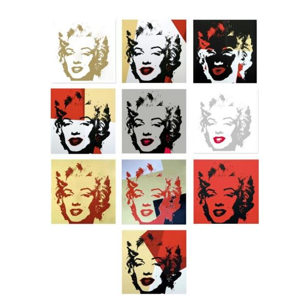 """Andy Warhol """"Golden Marilyn Portfolio"""" Limited Edition Suite of 10 Silk Screen P"""