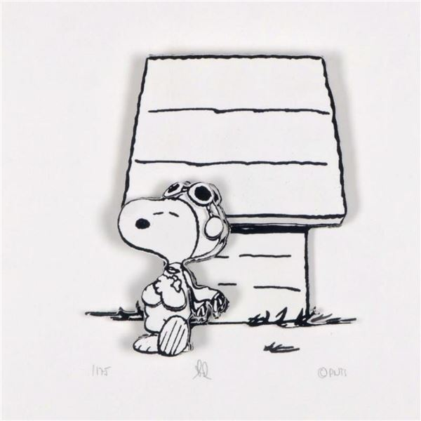 """Peanuts, """"Hero"""" Hand Numbered Limited Edition 3D Decoupage with Certificate of A"""