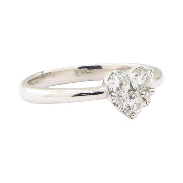 0.41 ctw Diamond Heart Shaped Ring - 14KT White Gold