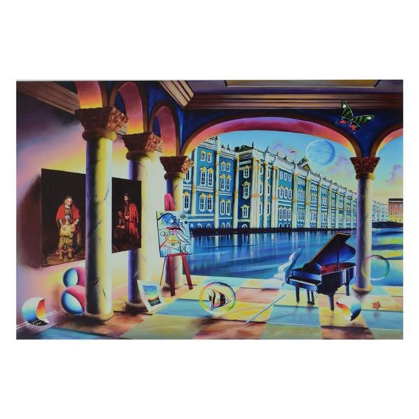 """Ferjo, """"View of the Hermitage"""" Limited Edition on Canvas, Numbered and Signed wi"""
