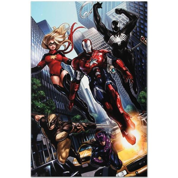 """Marvel Comics """"Ms. Marvel #44"""" Numbered Limited Edition Giclee on Canvas by Sana"""