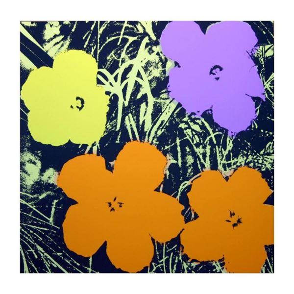 "Andy Warhol ""Flowers 11.67"" Silk Screen Print from Sunday B Morning."