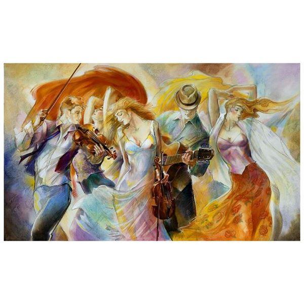 "Lena Sotskova, ""Happiness"" Hand Signed, Artist Embellished Limited Edition Gicle"