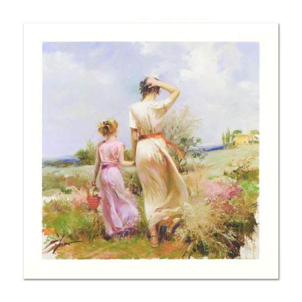 """Pino (1939-2010) """"Tuscan Stroll"""" Limited Edition Giclee. Numbered and Hand Signe"""