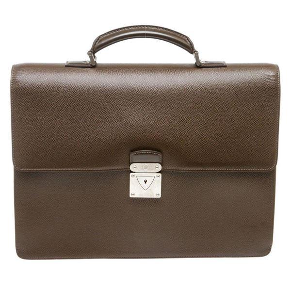 Louis Vuitton Brown Taiga Leather Robusto Briefcase Bag