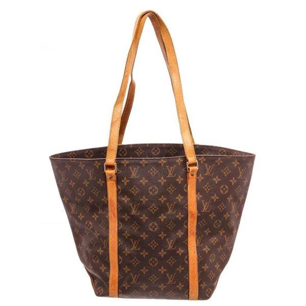Louis Vuitton Brown Sac Shopping Tote Bag