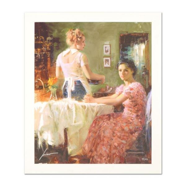 """Pino (1939-2010) """"Sharing Moments"""" Limited Edition Giclee. Numbered and Hand Sig"""